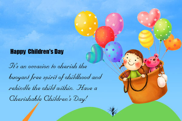 happy childrens day baloon wallpaper whats app