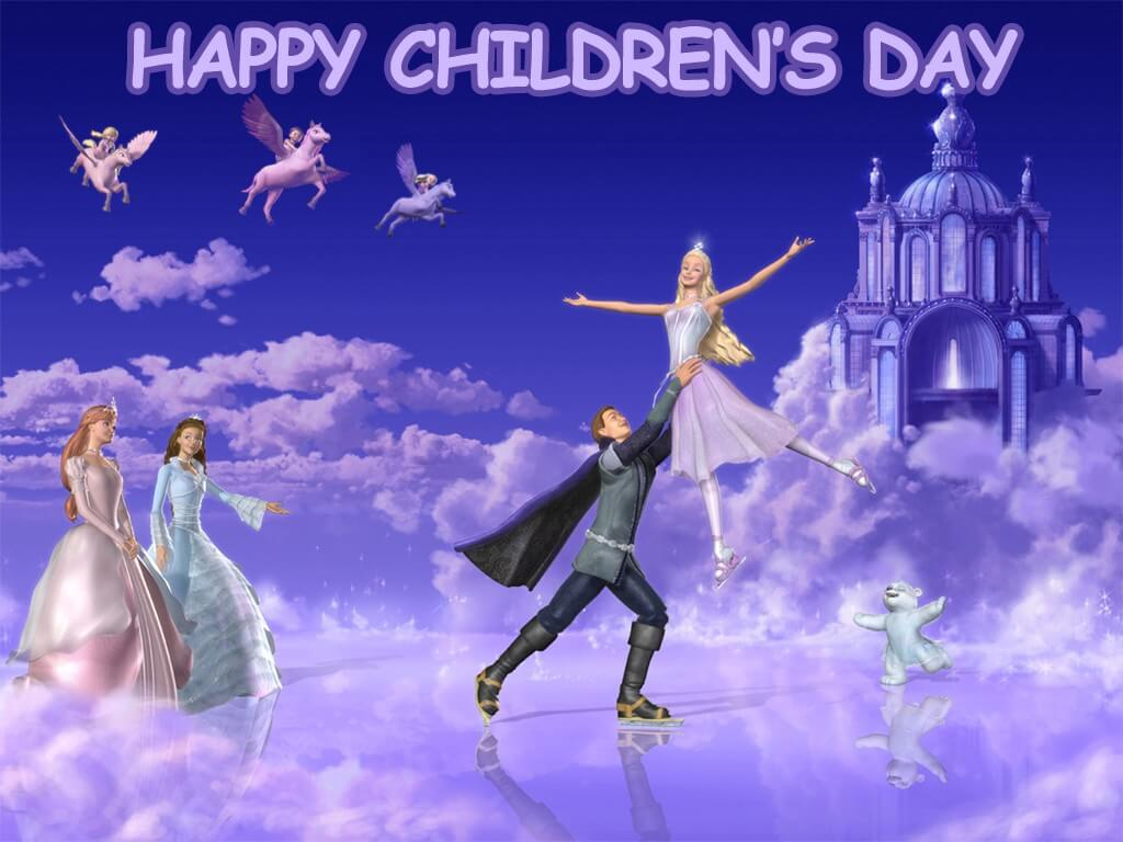 happy childrens day barbie angels hd wallpaper