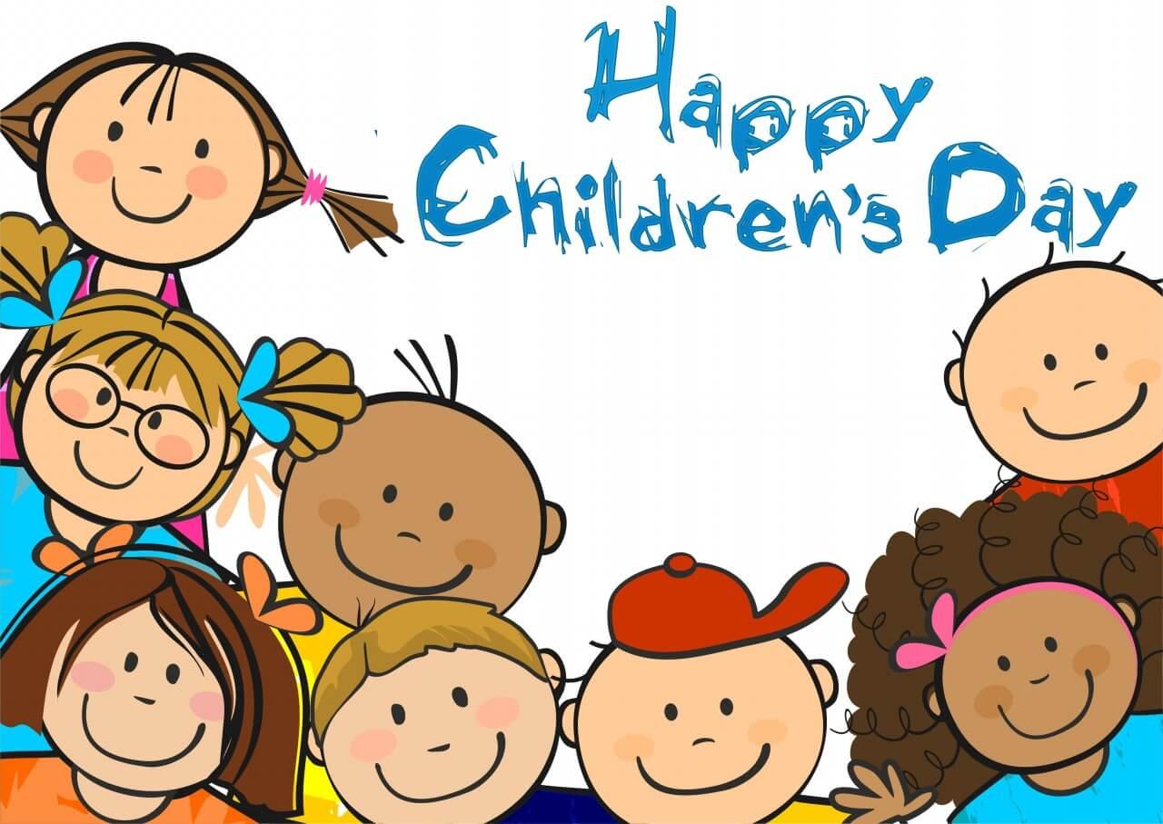 Happy Childrens Day Cartoon Art Image