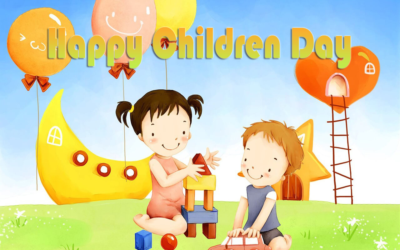 happy childrens day greetings and hd wallpaper