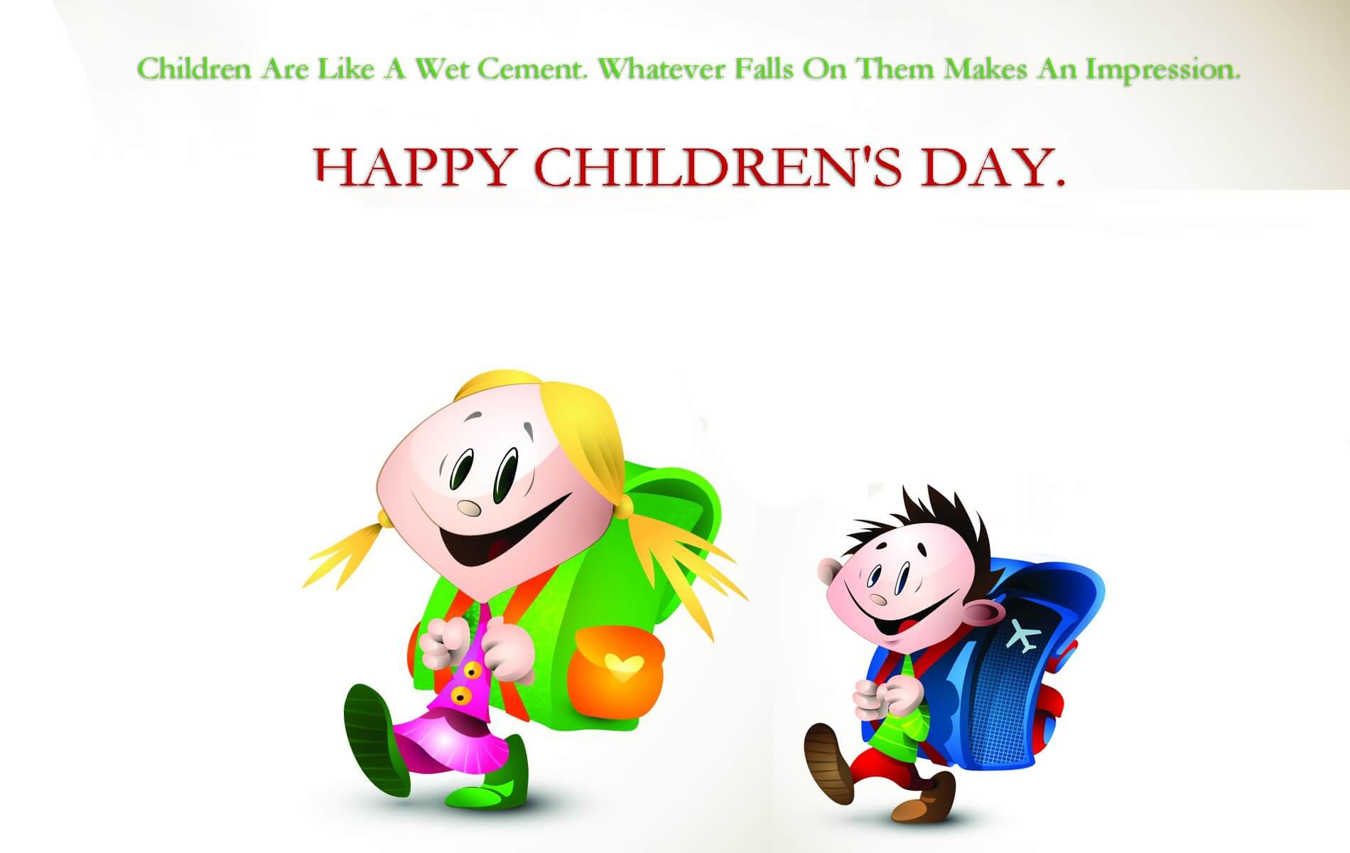 happy childrens day hd cartoon cool wallpaper
