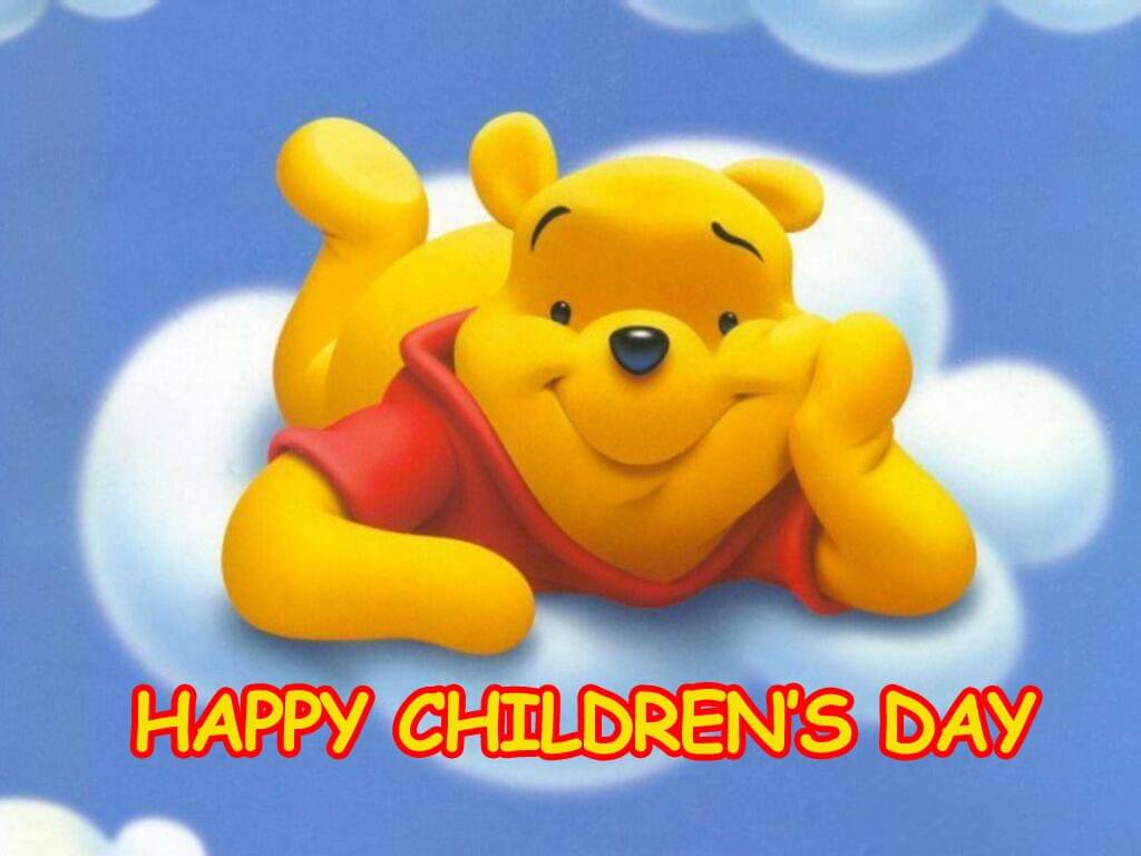 happy childrens day hd poo bear wallpaper