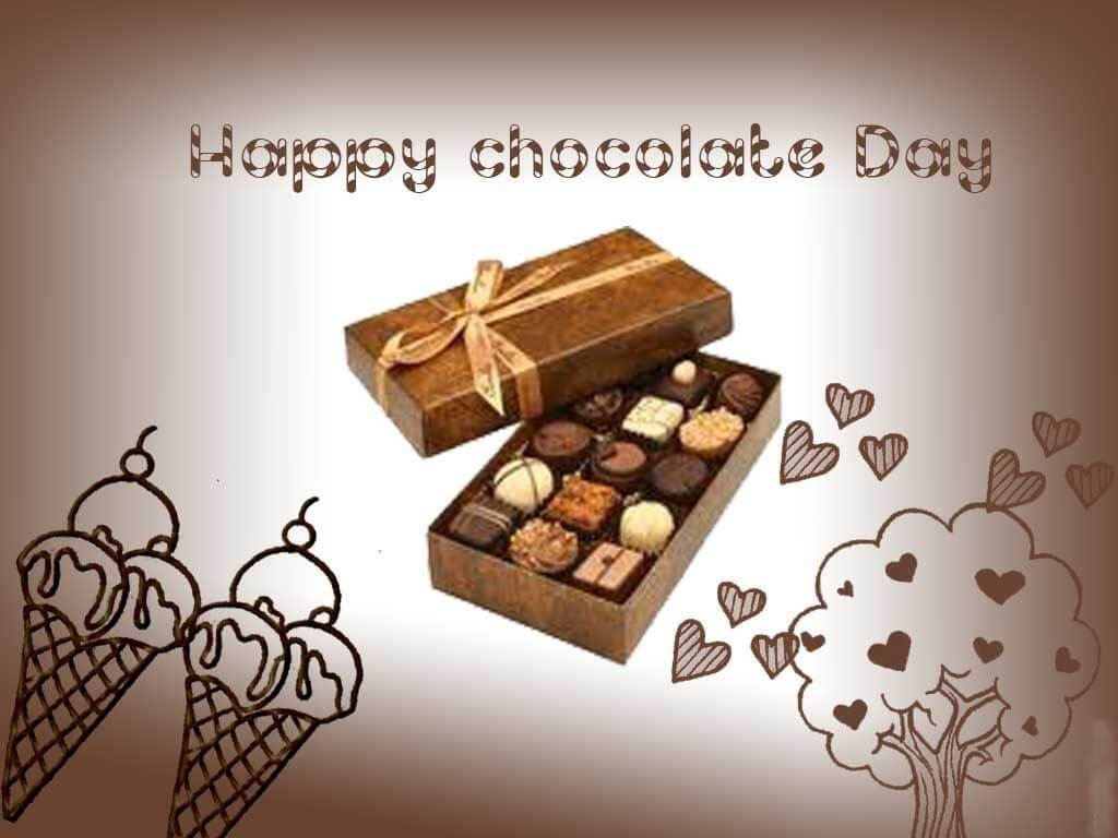 happy chocolate day box valentine february 9th hd wallpaper