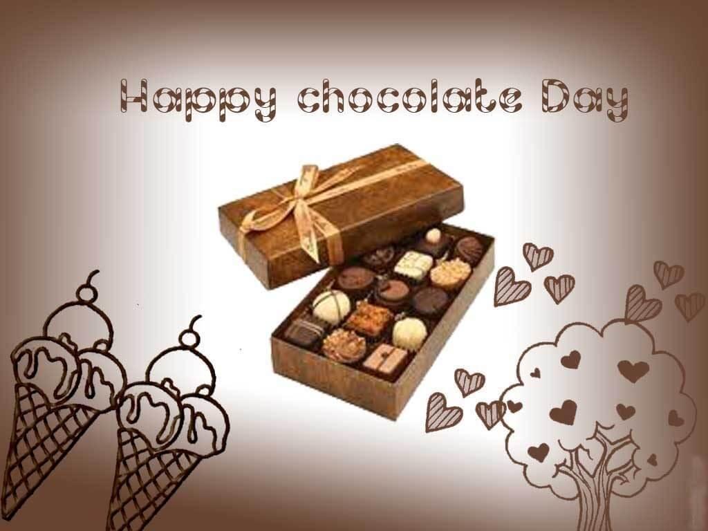 happy chocolate day box valentine february 9th hd wallpaper