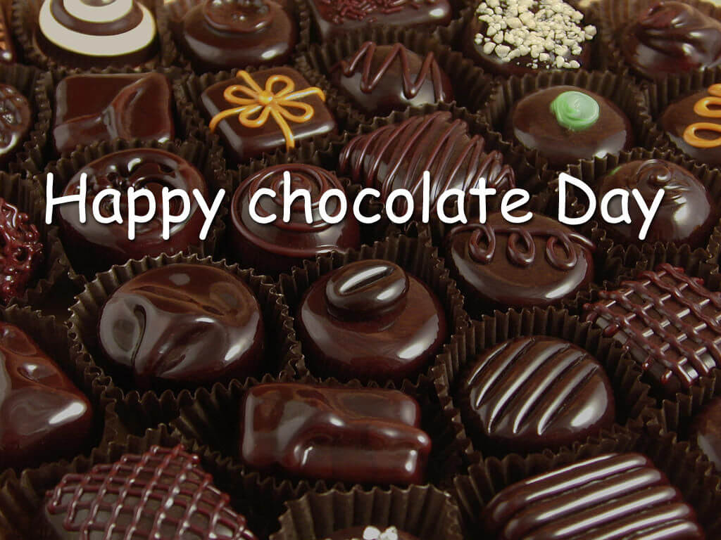 happy chocolate day for you valentine girl friend lover hd wallpaper