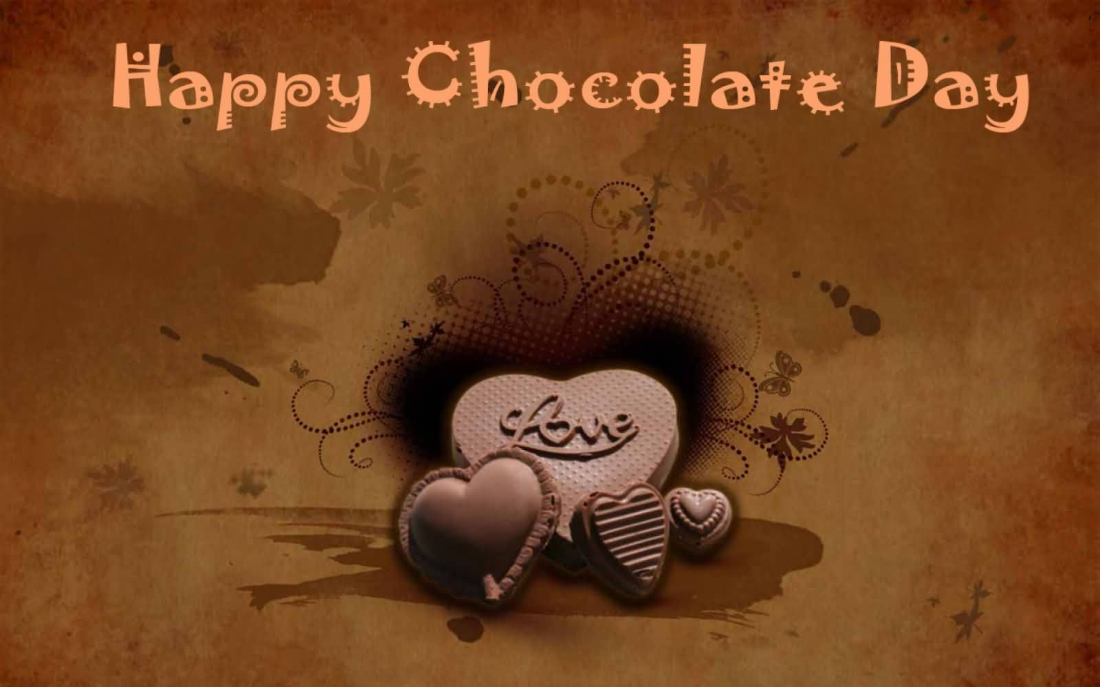 happy chocolate day wishes heart love graphic pc desktop facebook hd wallpaper
