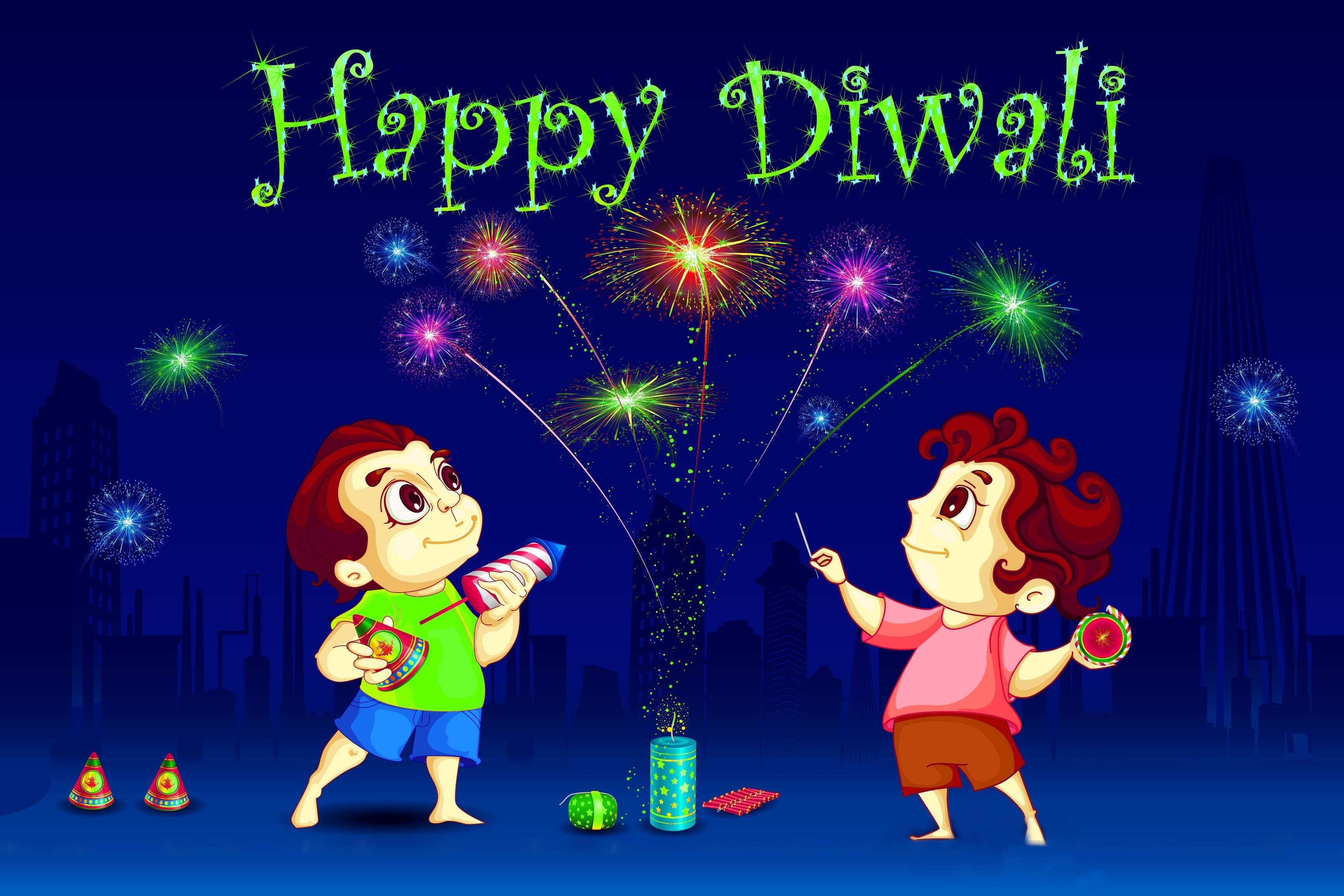 happy diwali animated free hd wallpaper