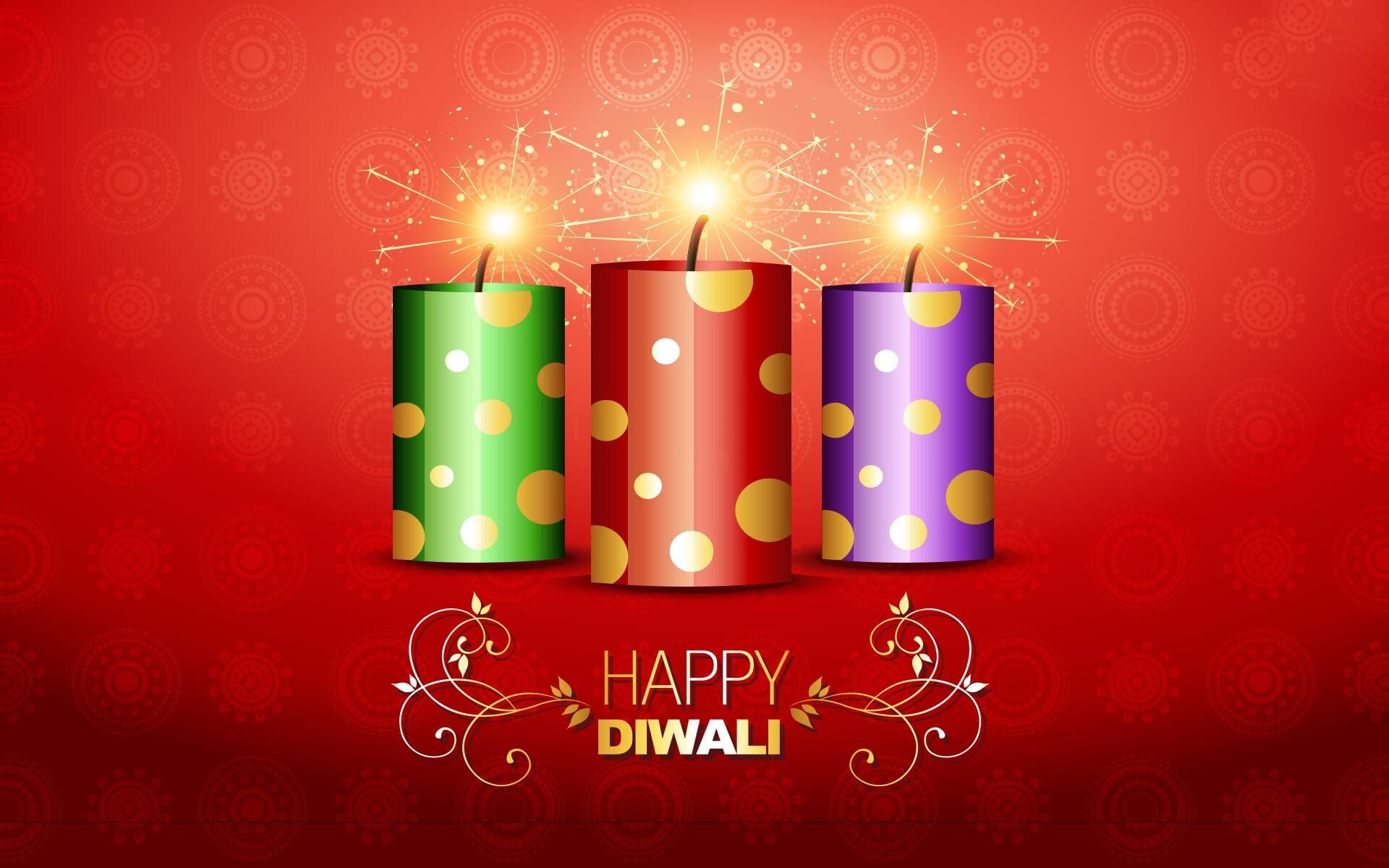 happy diwali wishes crackers free hd wallpaper