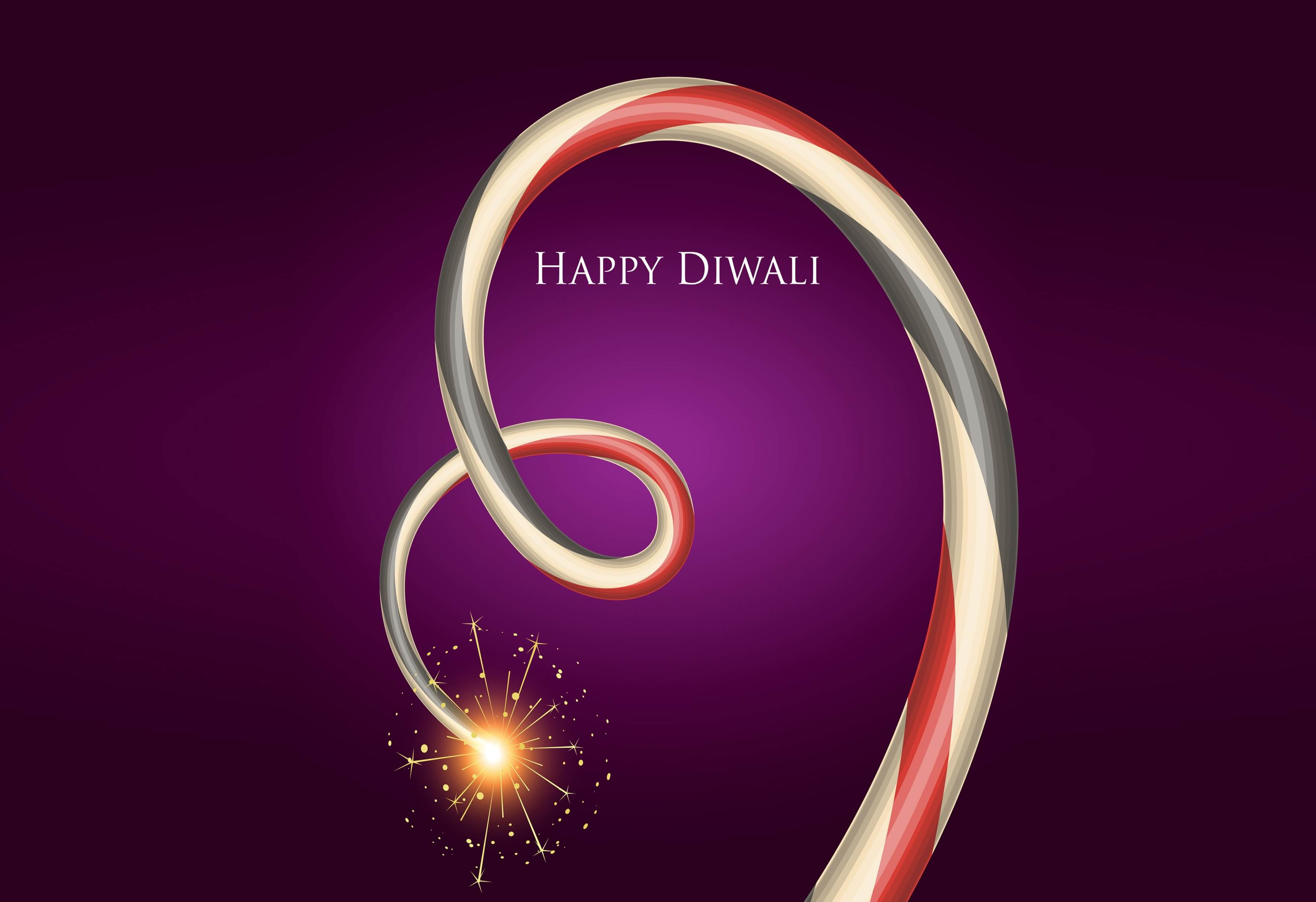 happy diwali wishes firework hd image wallpaper