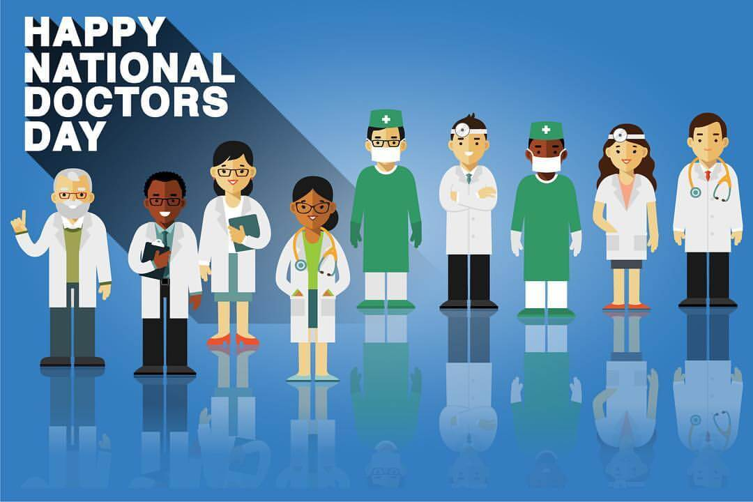 happy doctors day medical team wishes greetings hd wallpaper