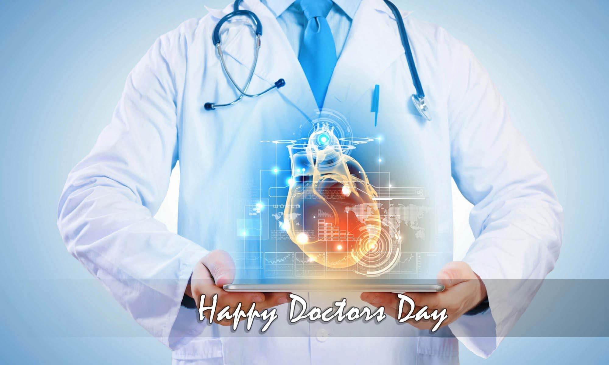 happy doctors day wishes greetings ai cardiac hd wallpaper