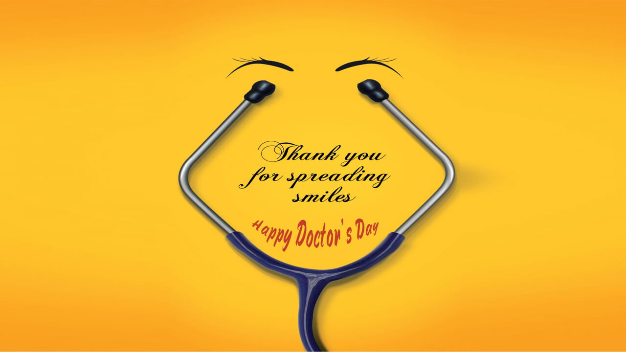 happy doctors day wishes spreading smiles quotes hd wallpaper