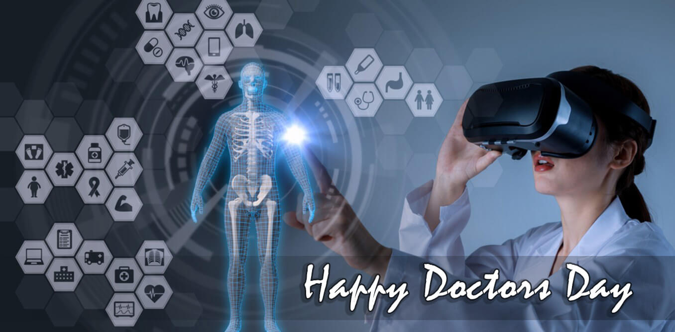 happy doctors day wishes virtual reality ai medical hd wallpaper