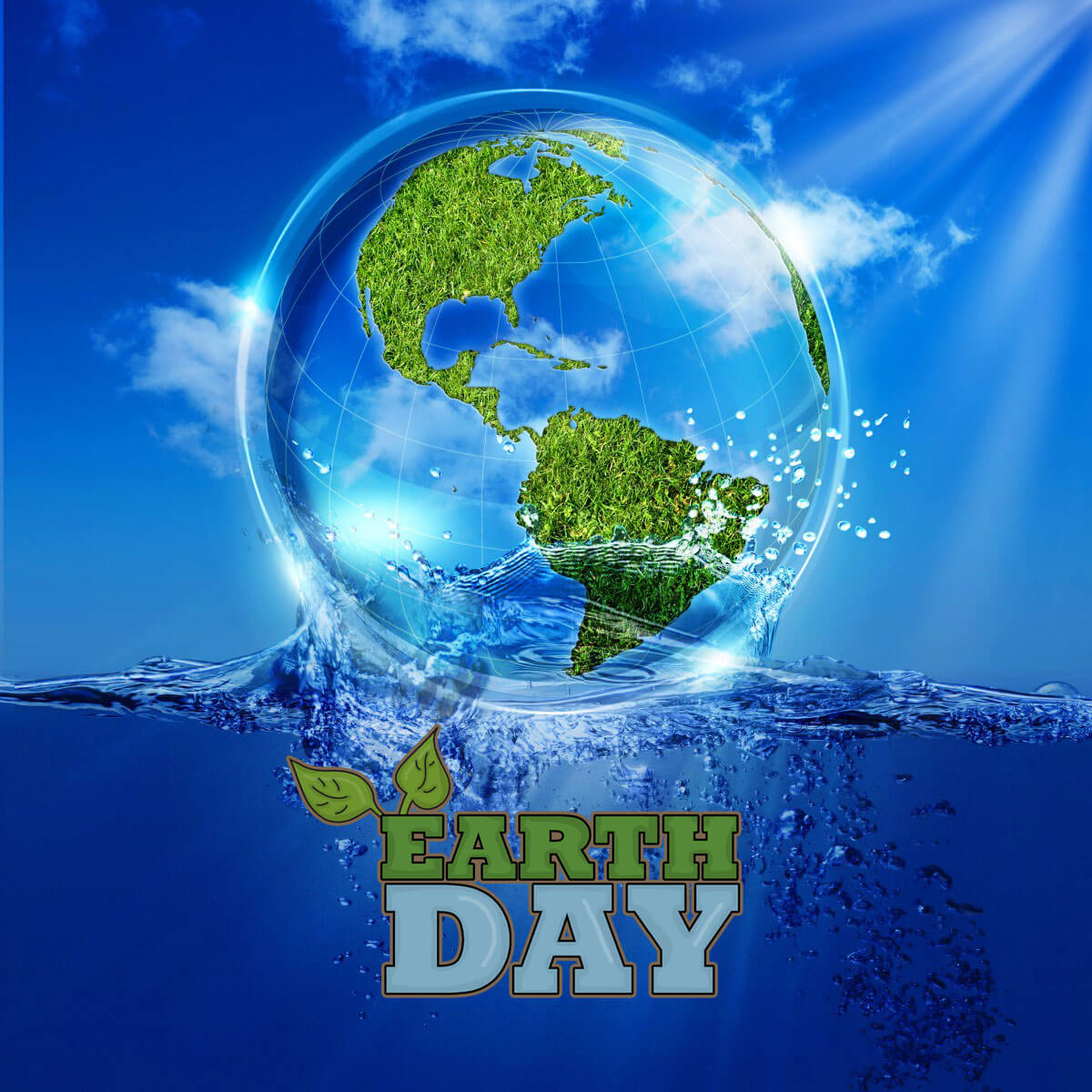 happy earth day 3d image new background hd wallpaper