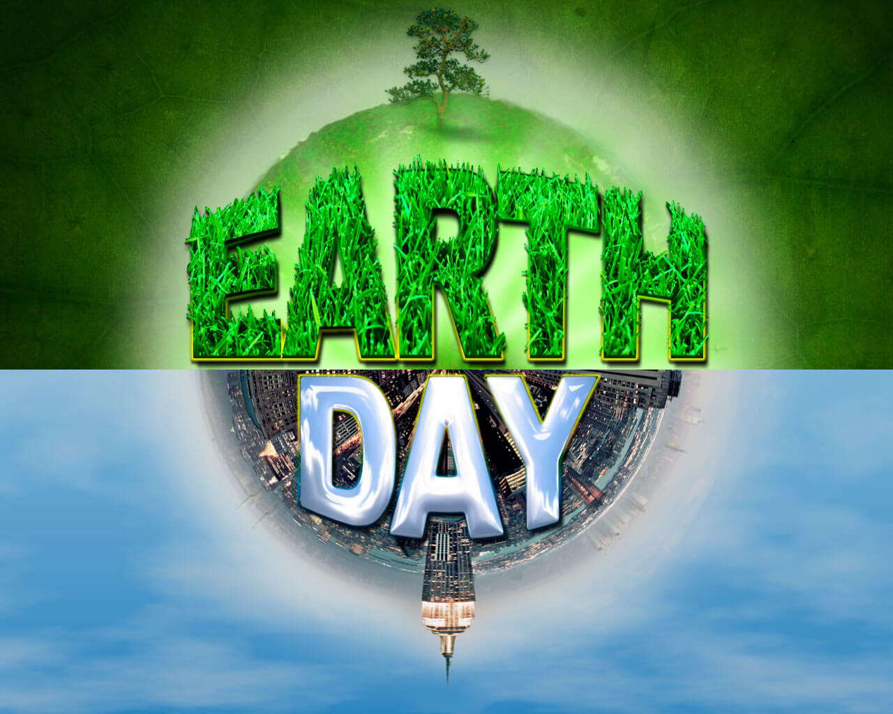 happy earth day go green nature environment hd wallpaper