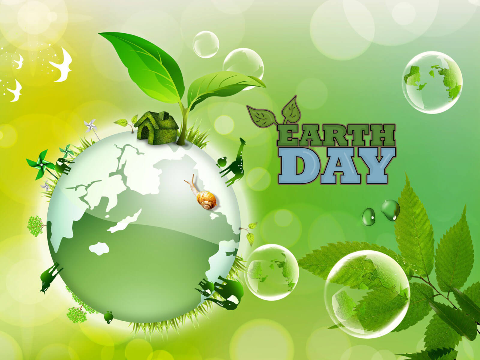 happy earth day green nature ecology hd wallpaper