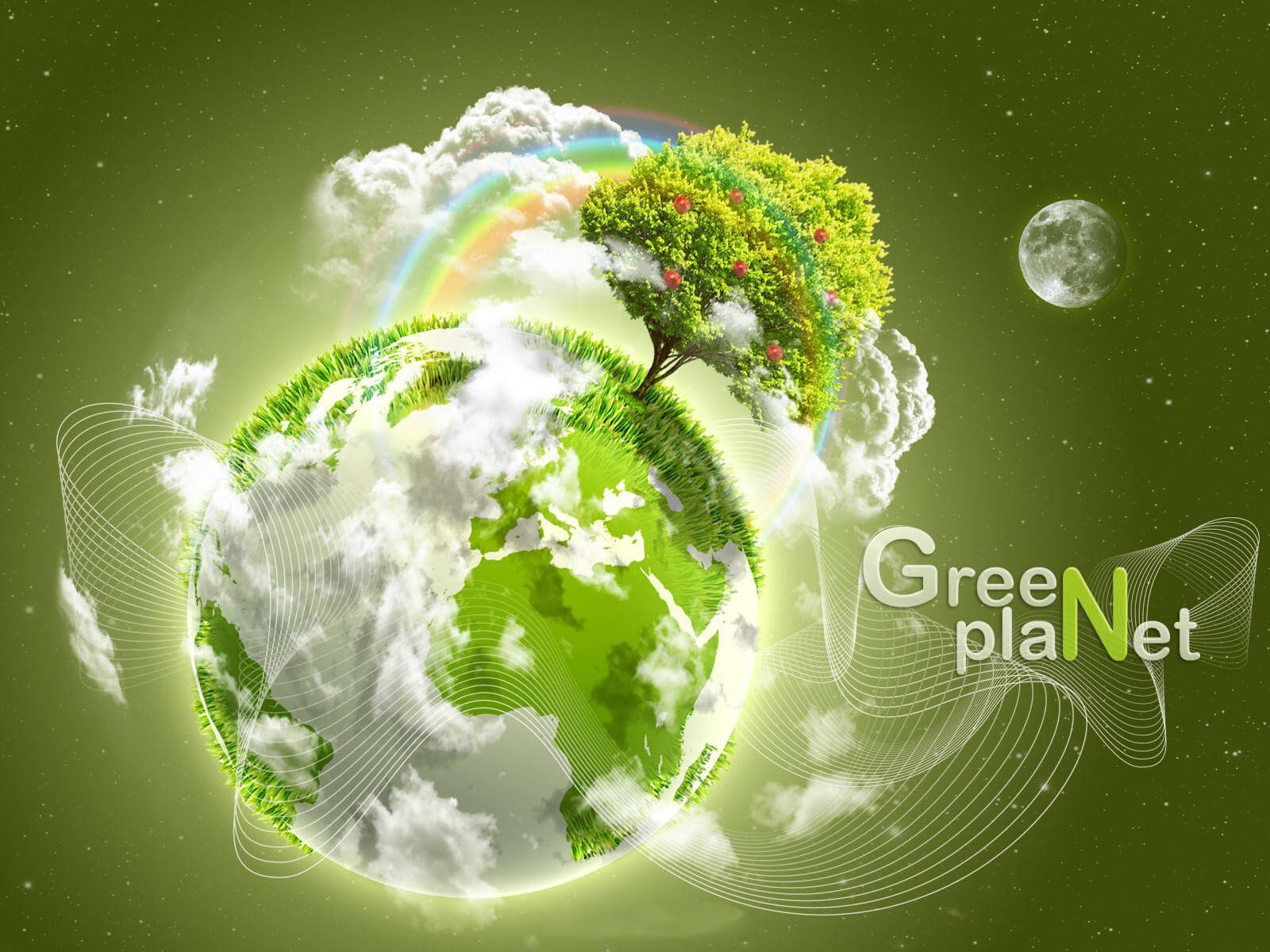happy earth day green planet hd wallpaper