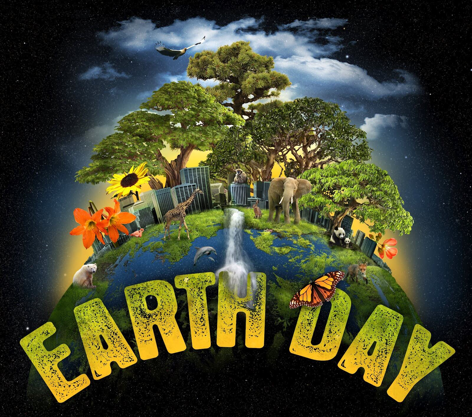 New background images environment free wallpaper - Happy Earth Day Hd Graphic Animated Background Wallpaper