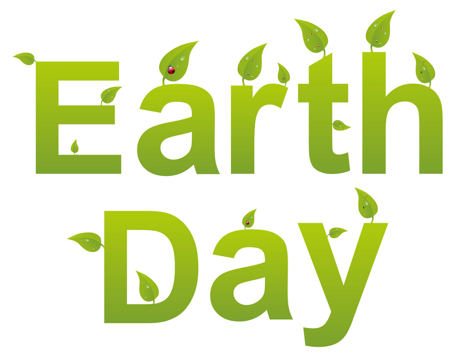 happy earth day text pc wallpaper