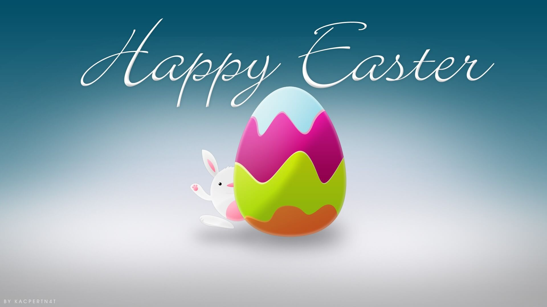 happy easter bunny rabbit image