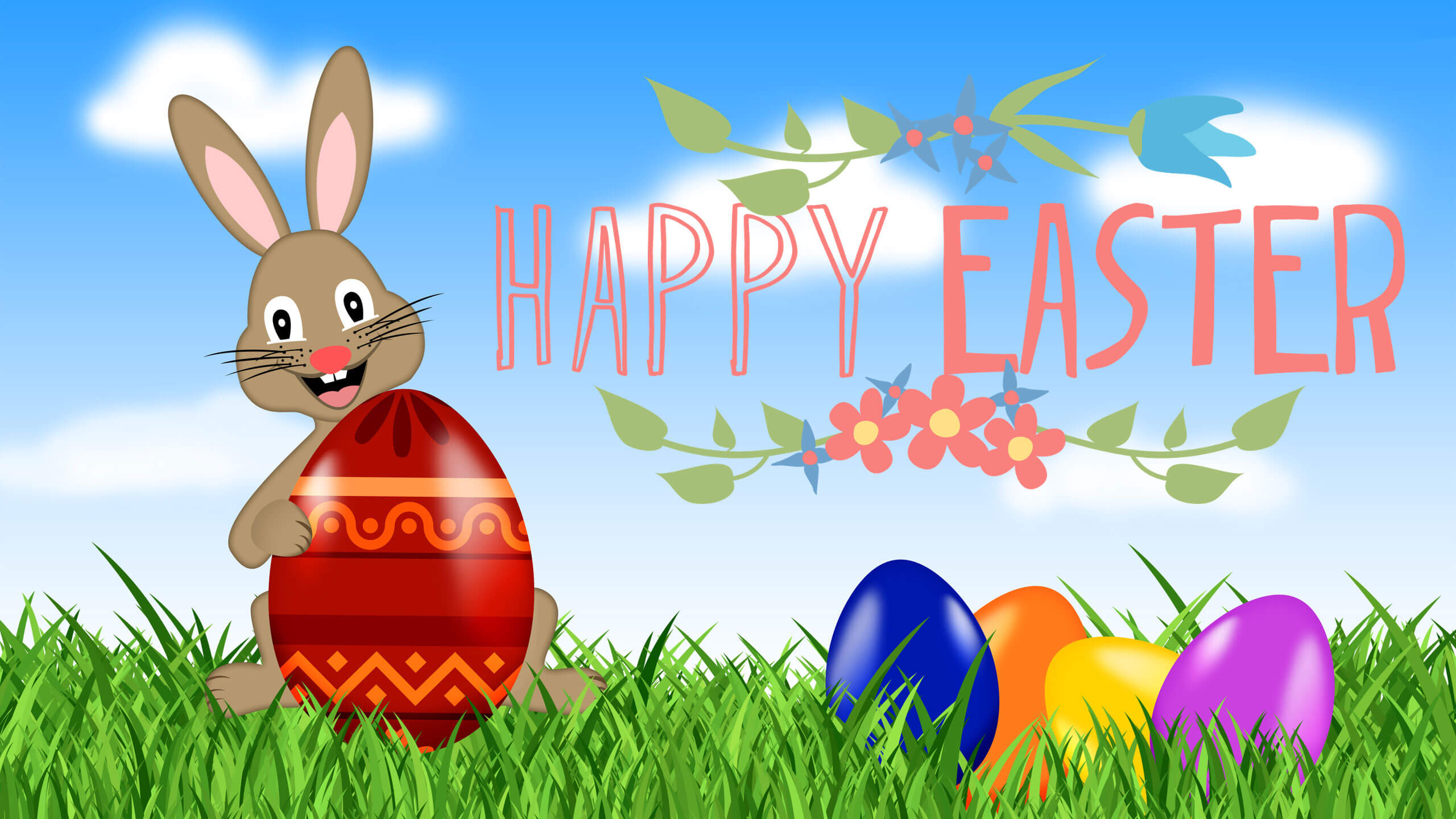happy easter eggs bunny rabbit new hd wallpaper