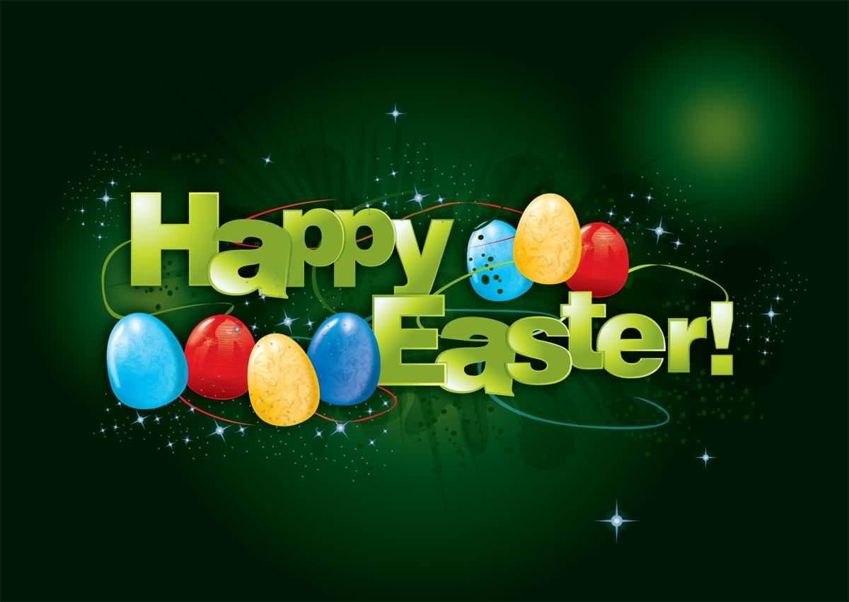 happy easter eggs greetings card wallpaper