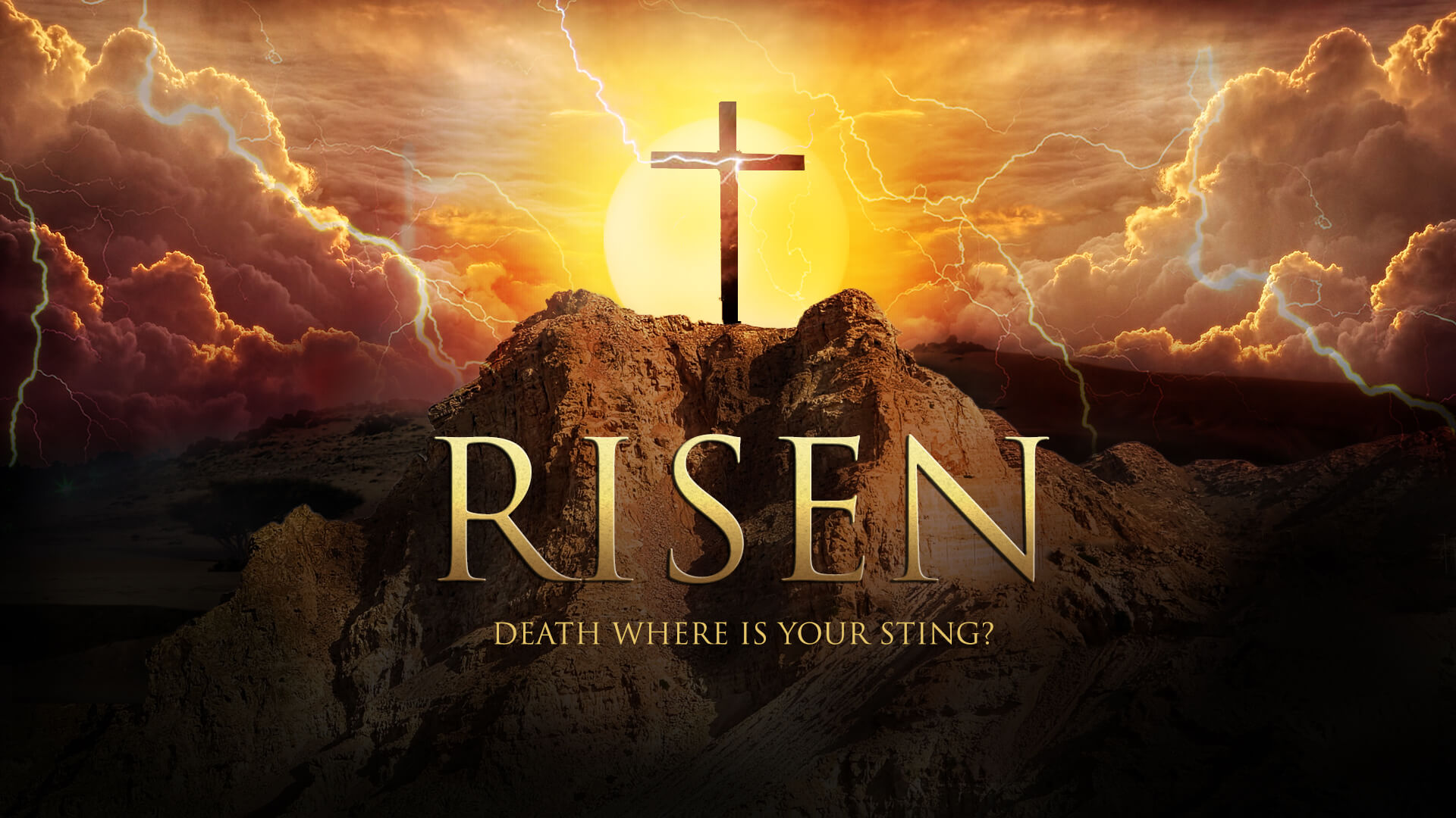 happy easter jesus resurrection risen hd wallpaper desktop background