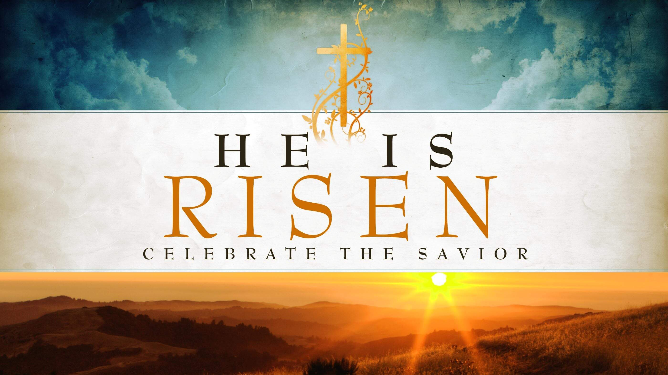 happy easter jesus resurrection risen hd wallpaper desktop