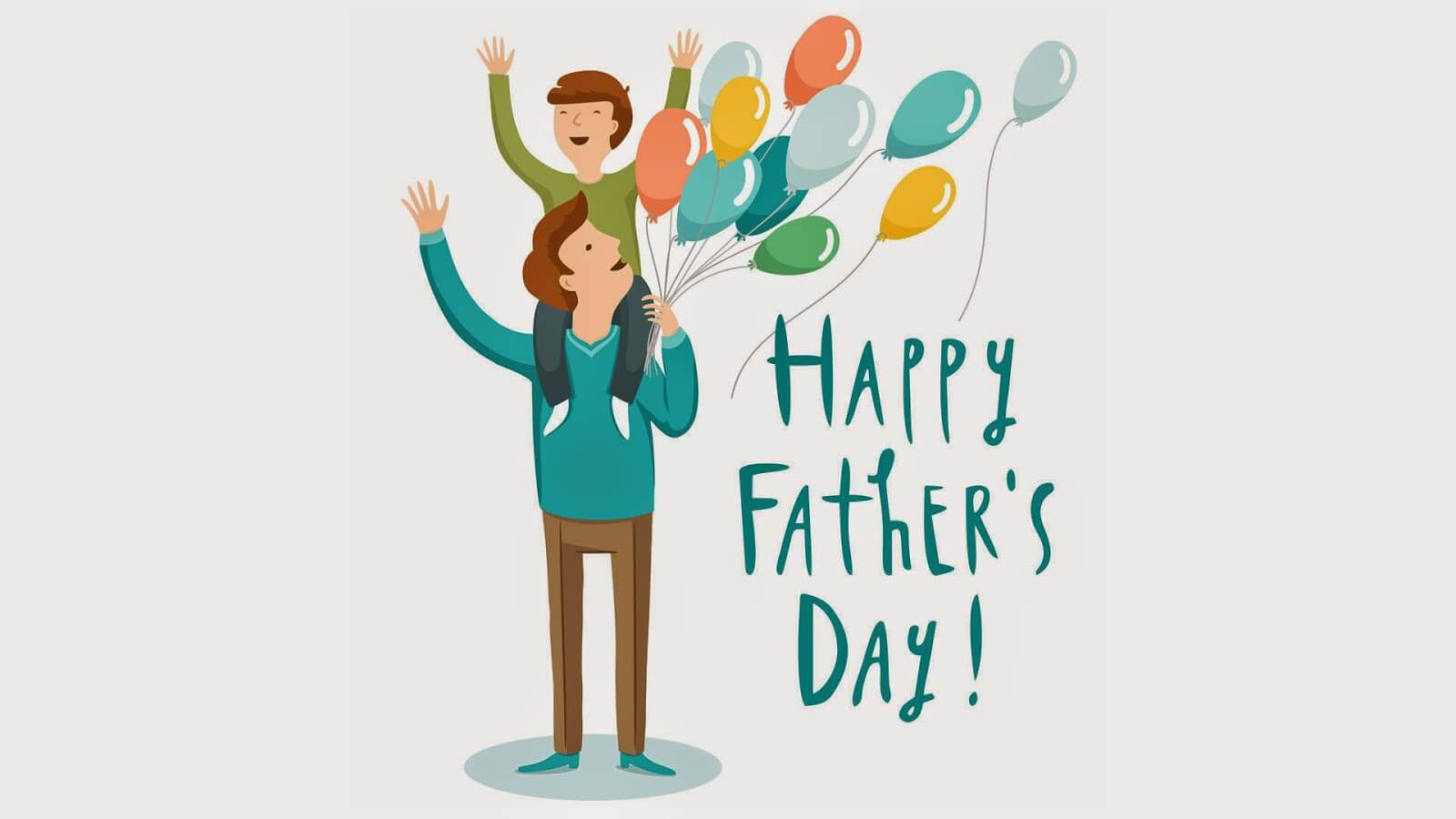 happy fathers day cartoon hd wallpaper