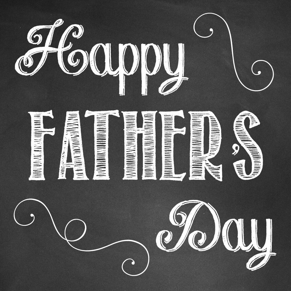 happy fathers day chalk desktop background hd