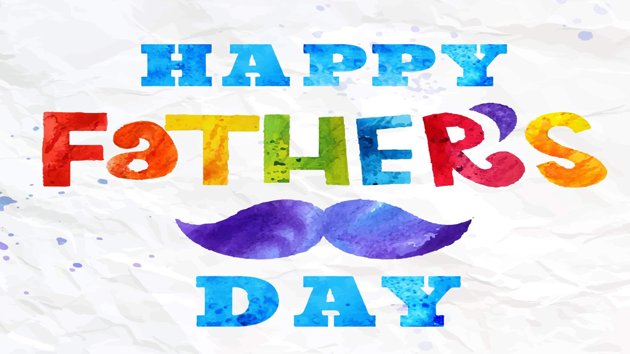 happy fathers day colorful image hd wallpaper