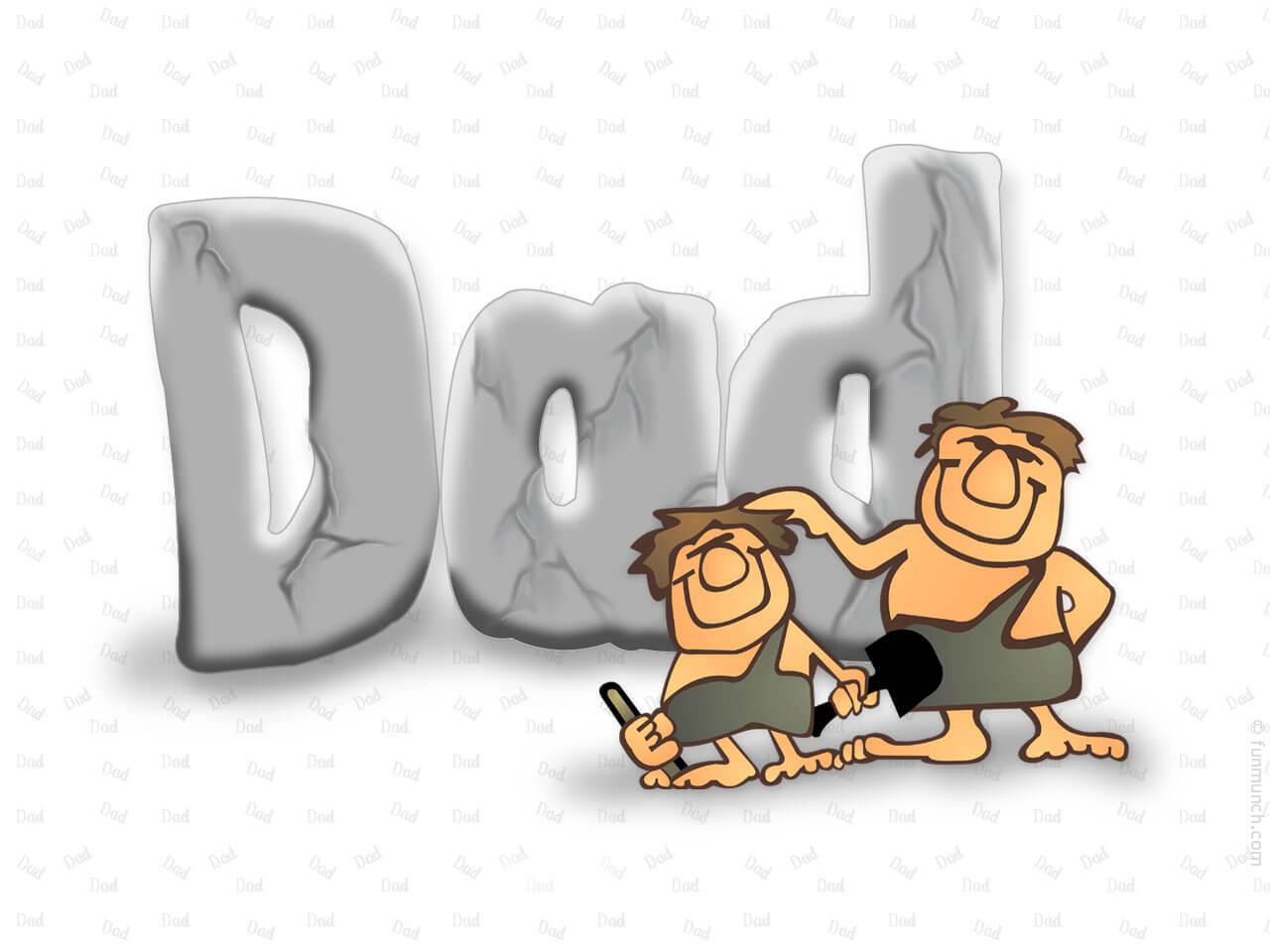 happy fathers day flintstones cartoon hd wallpaper