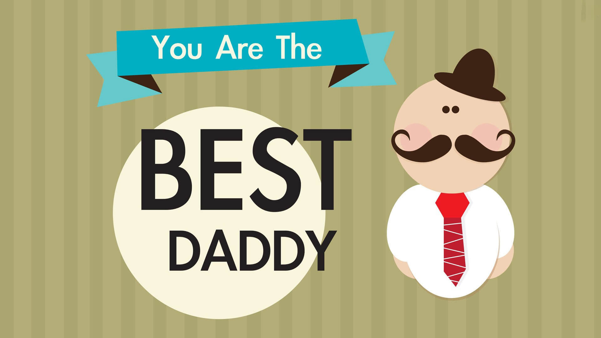 happy fathers day greetings cartoon wallpaper hd