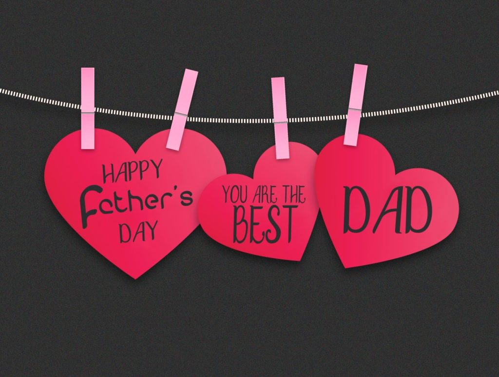 happy fathers day heart wishes greetings hd wallpaper