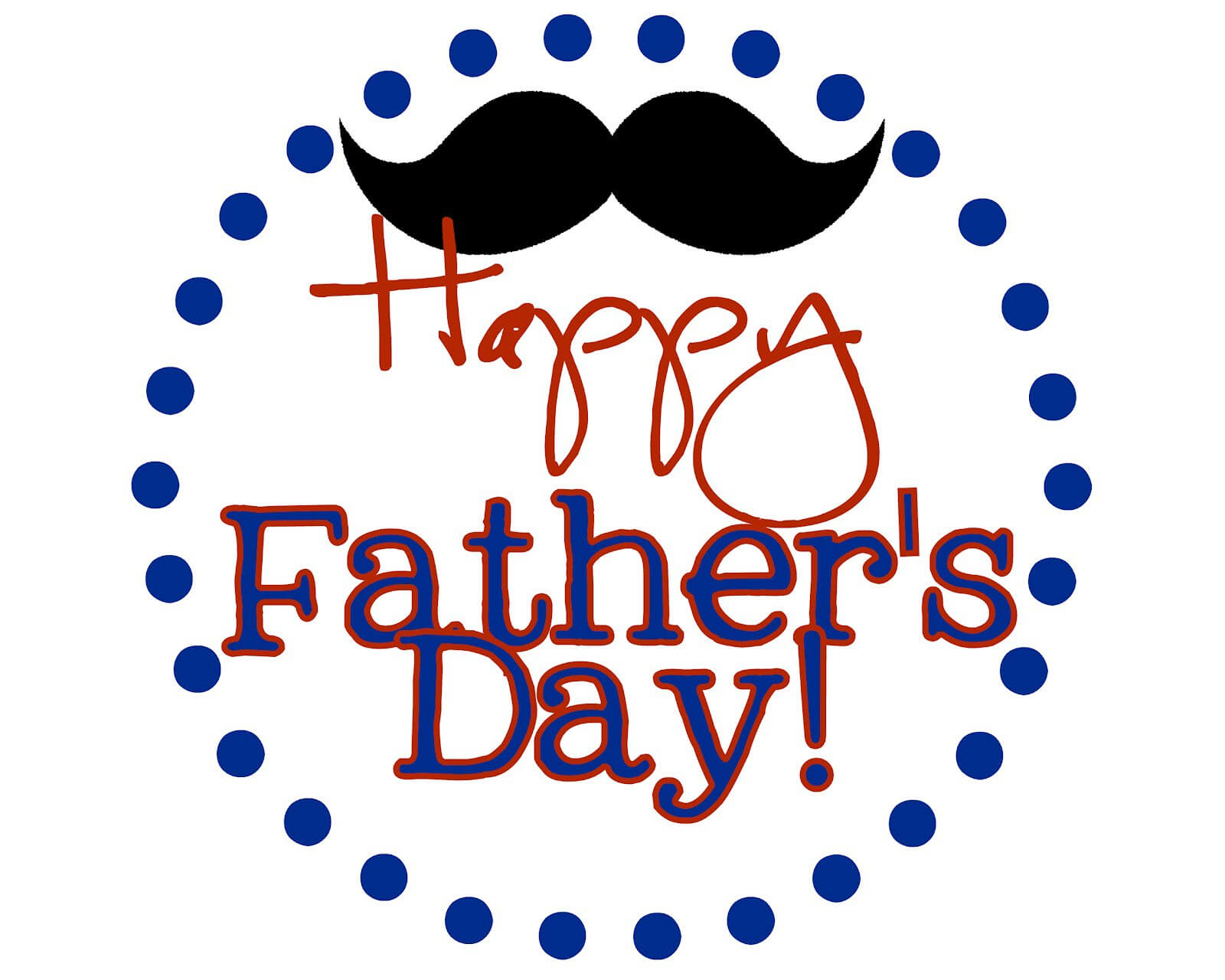happy fathers day mustache wallpaper