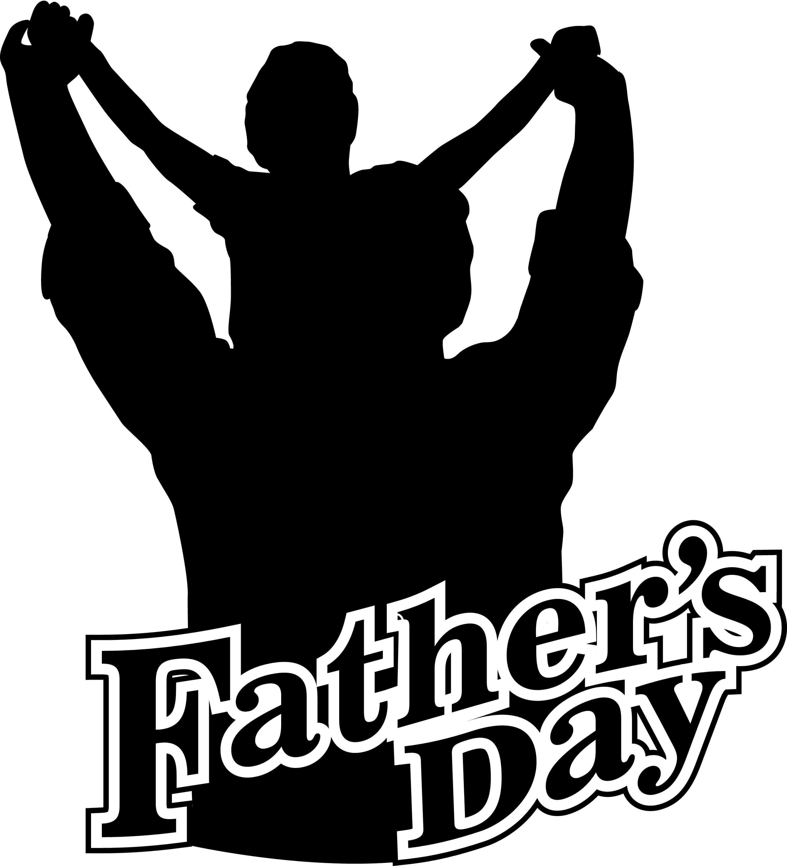 happy fathers day silhouette hd wallpaper