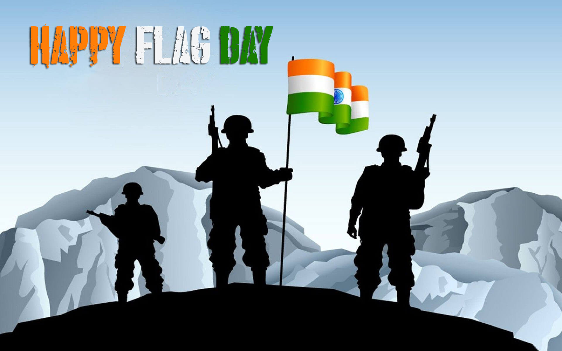 happy flag day india armed forces hd background wallpaper