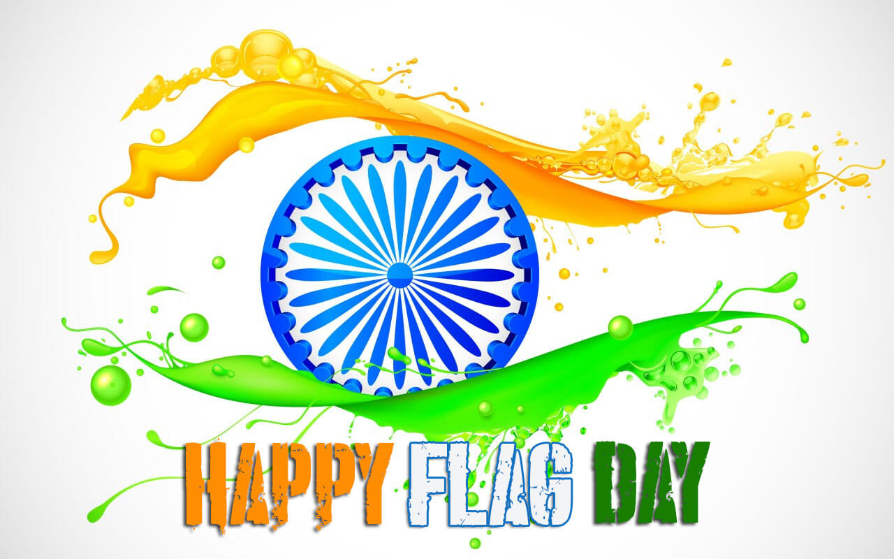 happy flag day india modern hd background wallpaper