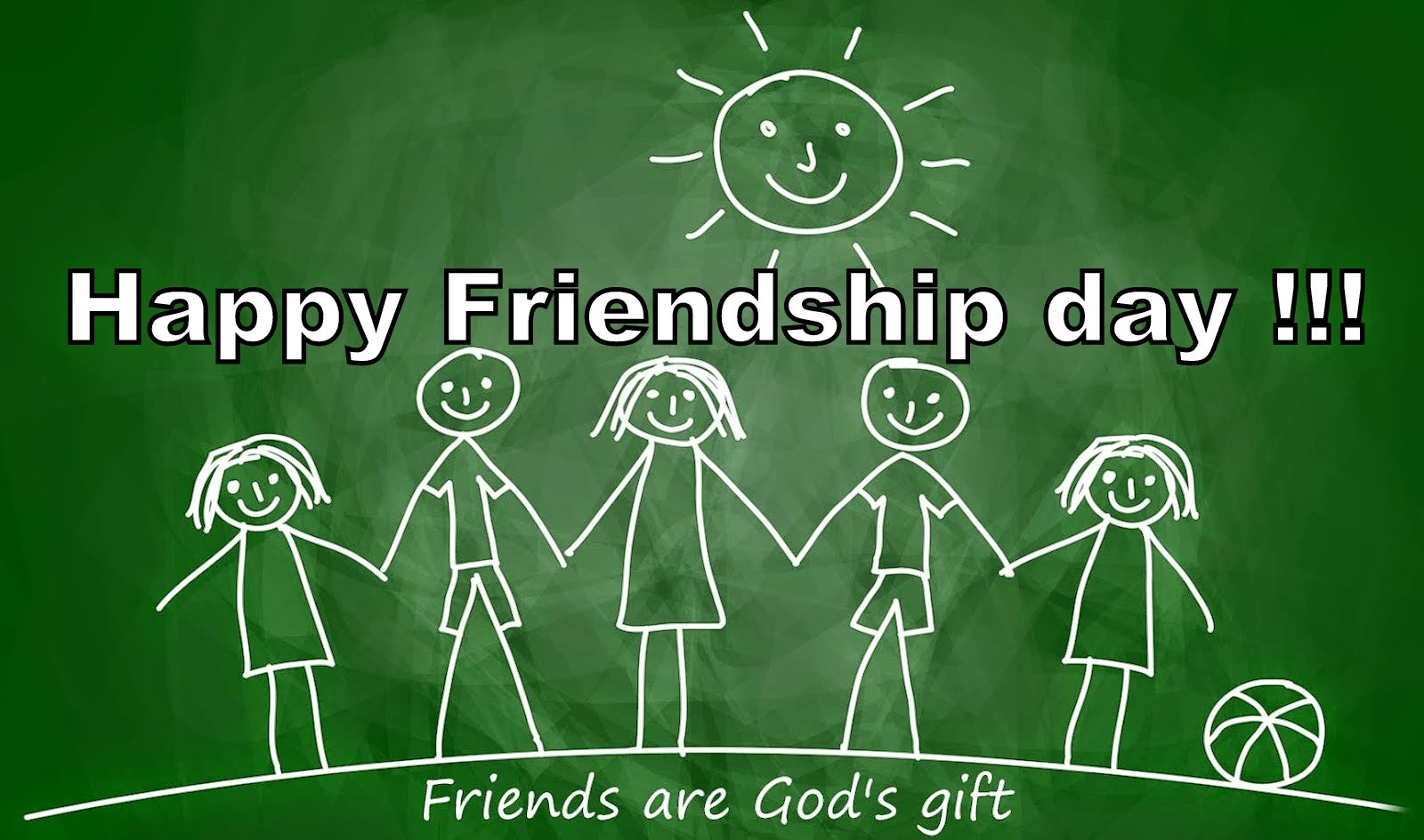 happy friendship day chalk art friends gods gift wallpaper