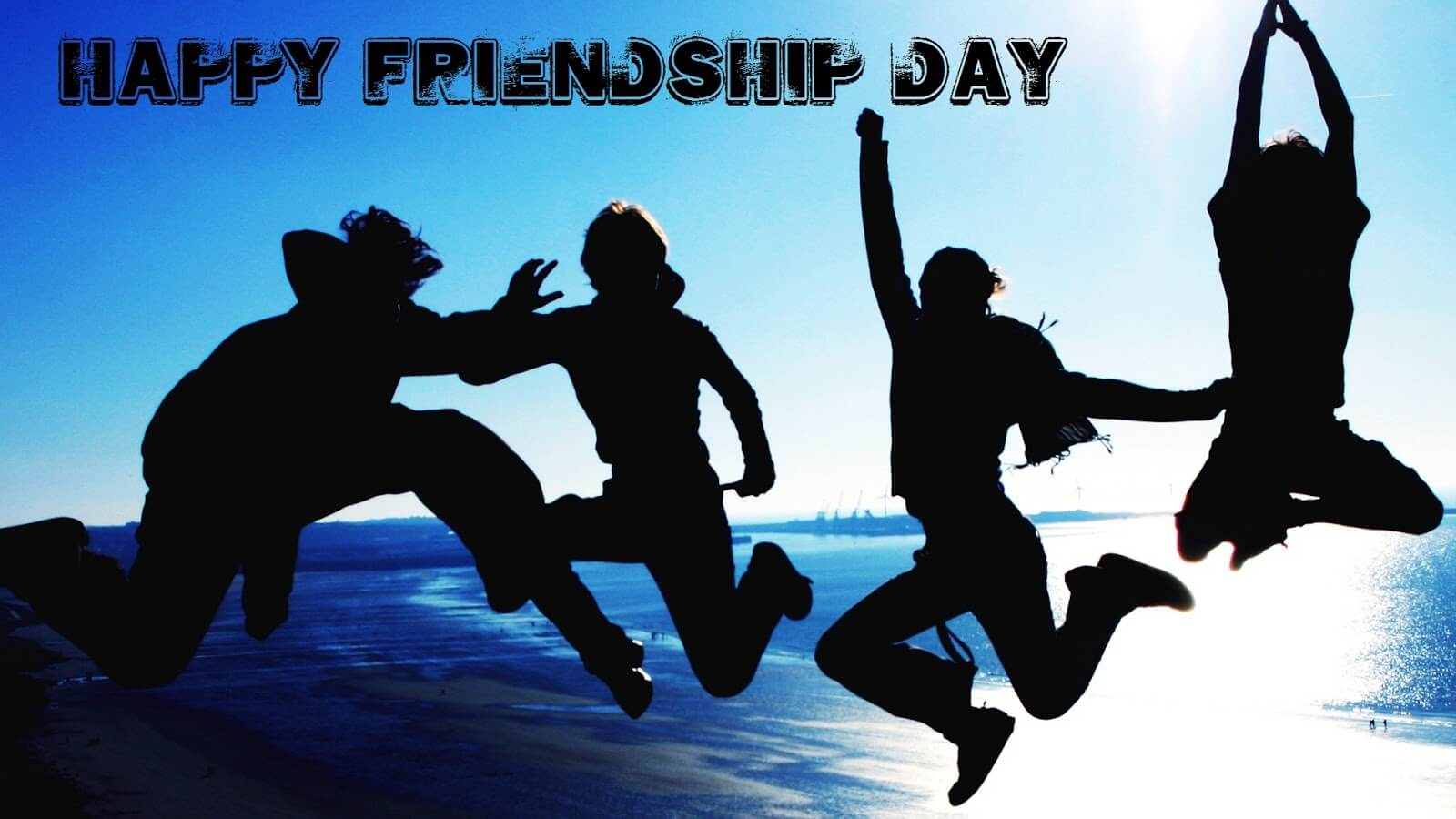 happy friendship day jumping with joy image