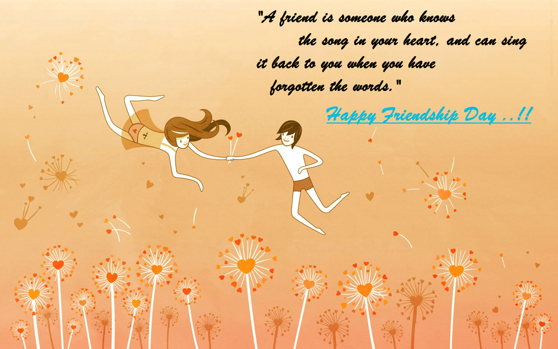 Happy Friendship Day Quotes Thoughts Wallpaper