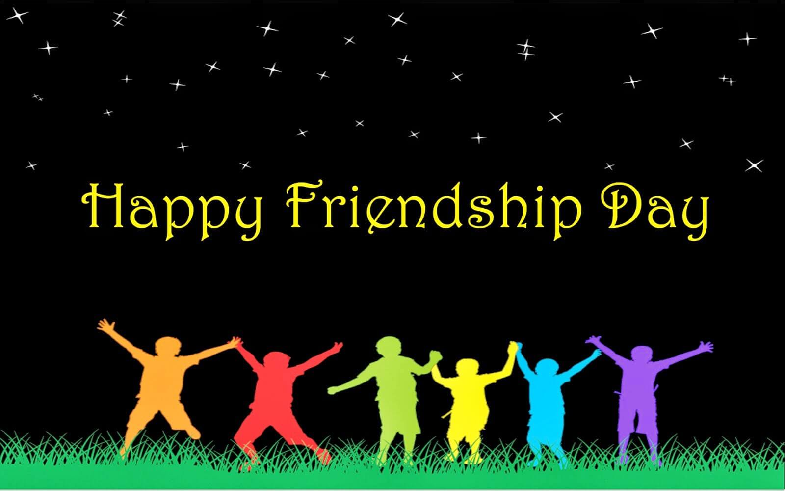 happy friendship day silhouette hd wallpaper