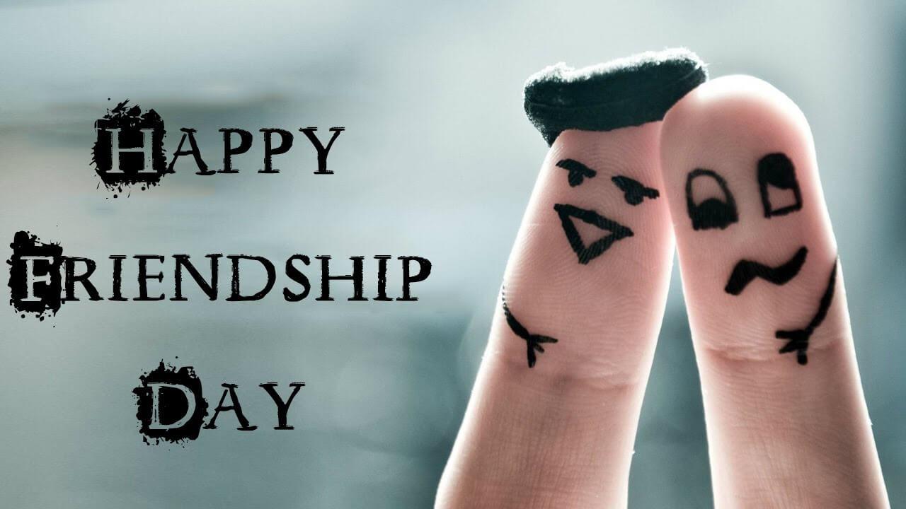 happy friendship day two fingers hd wallpaper