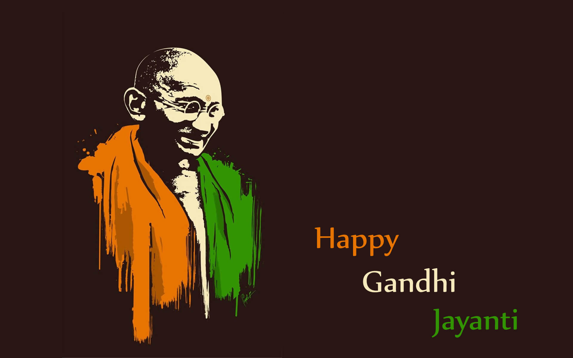 Happy Gandhi Jayanti 2 October Hd Wallpaper