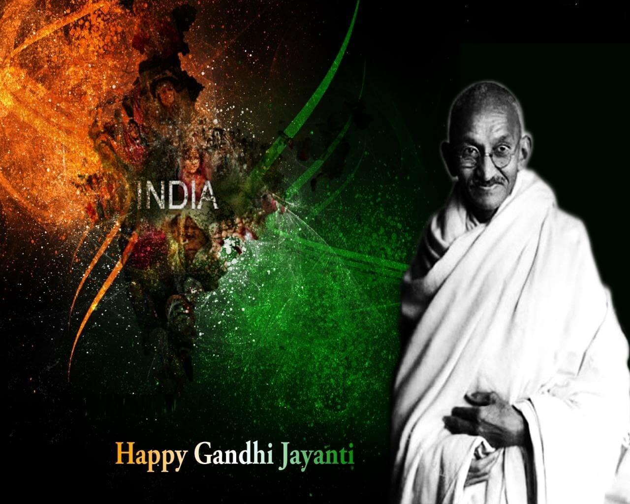 happy gandhi jayanti october 2 hd wallpaper