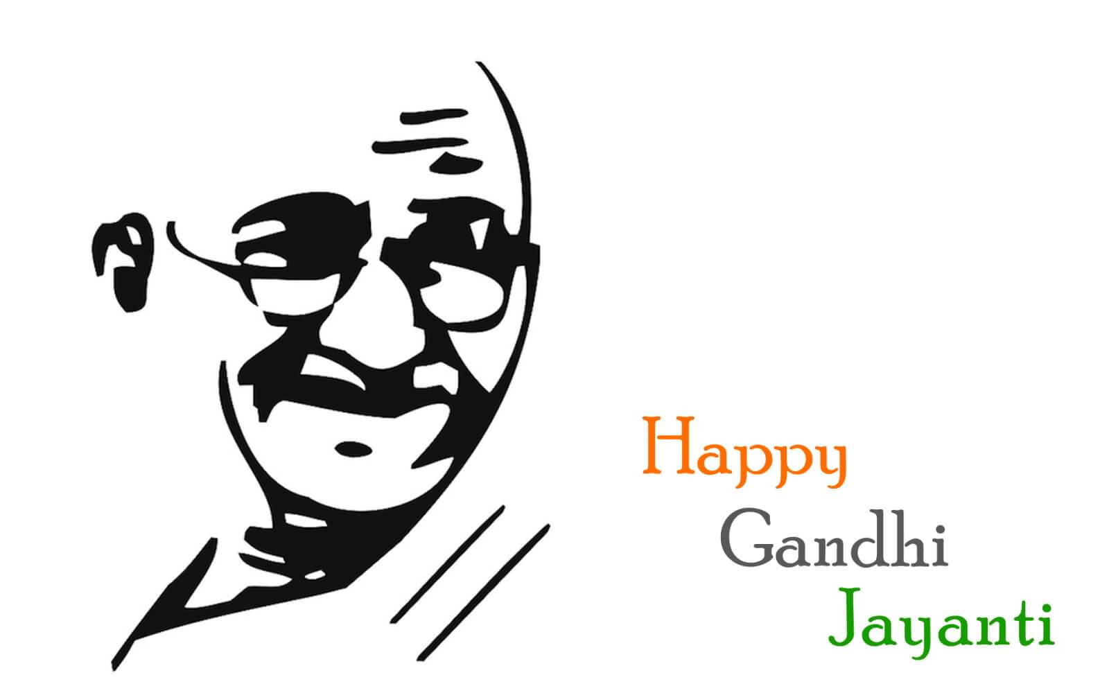 happy gandhi jayanti october 2 silhouette hd wallpaper
