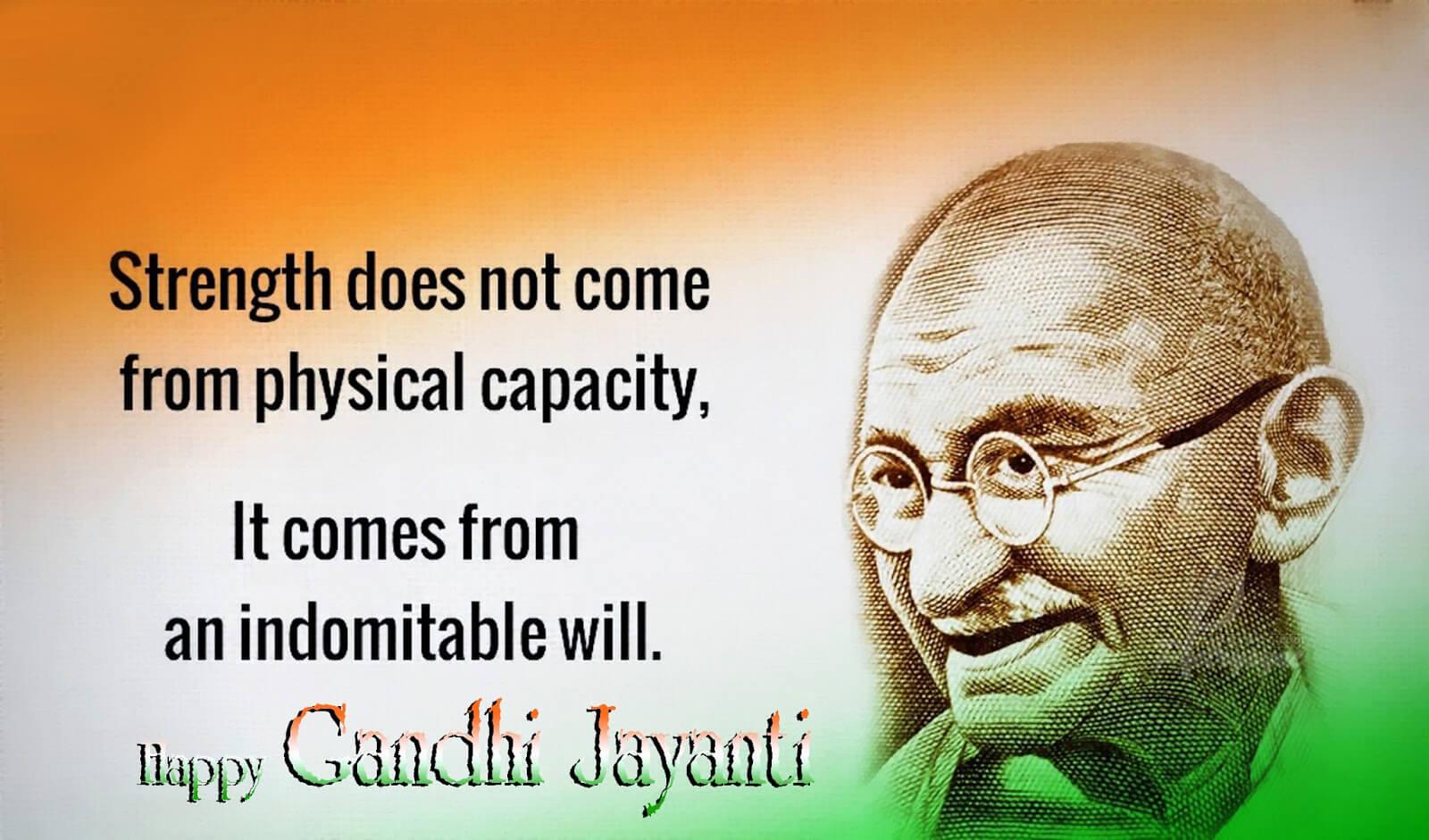happy gandhi jayanti quotes wallpaper