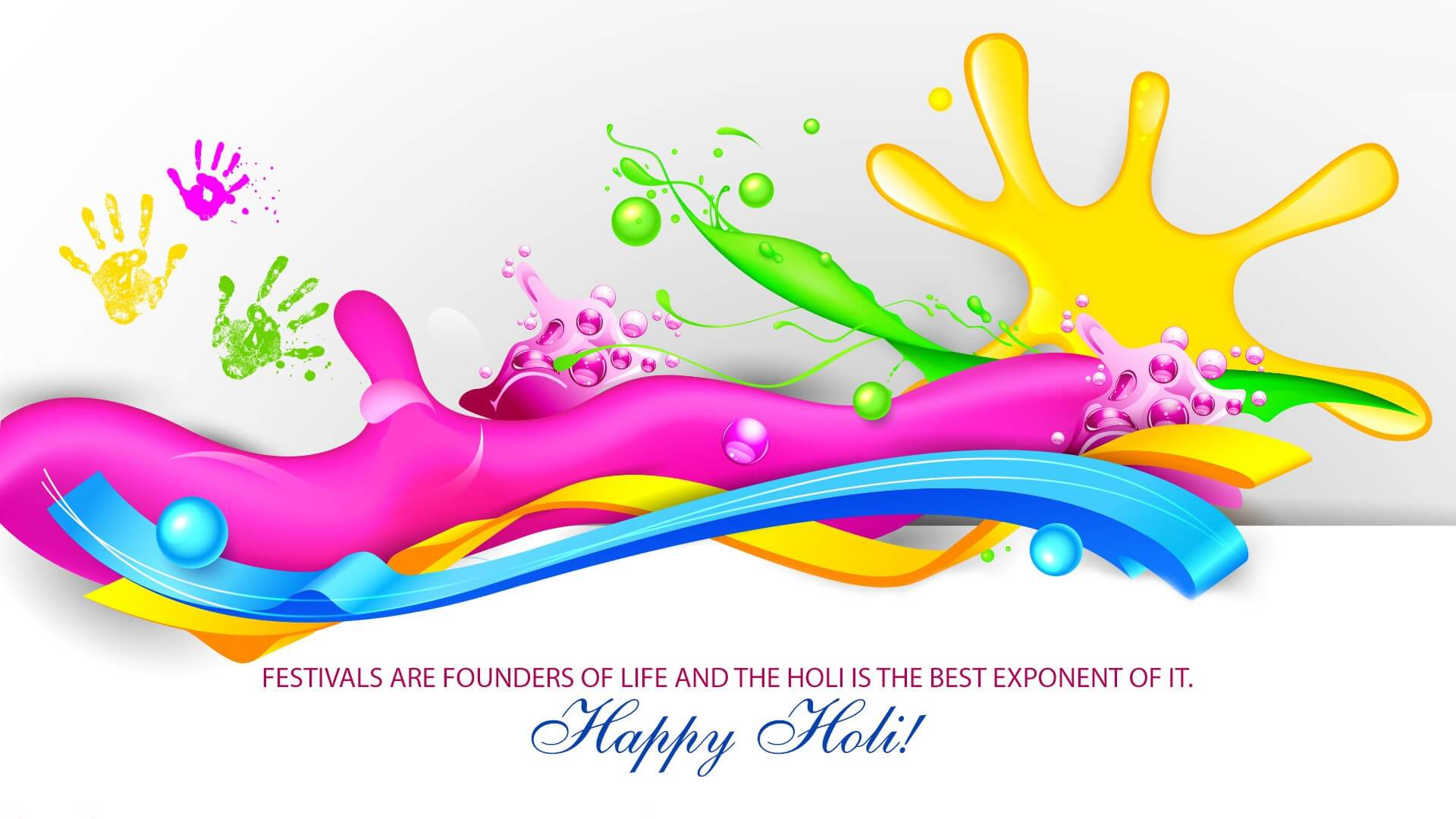 happy holi 3d hd free wallpaper background