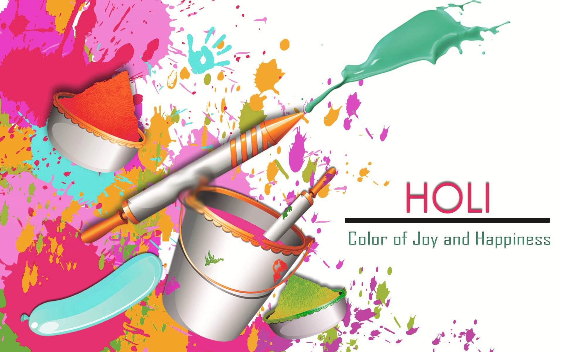 happy holi 3d hd wallpaper background