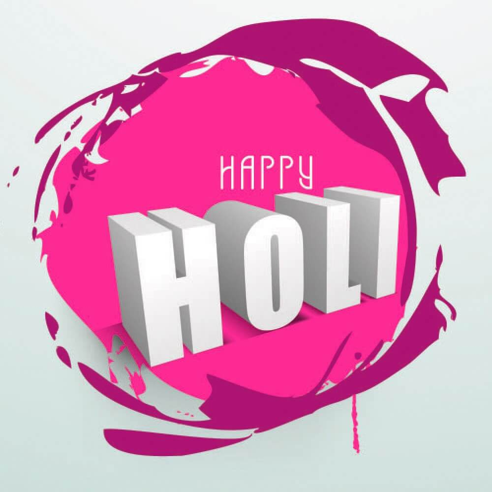 happy holi 3d hd wallpaper whatsapp